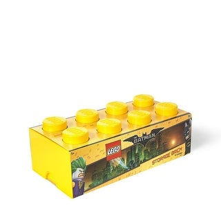 LEGO Storage Brick 8, Bright Yellow (Batman) - Multi