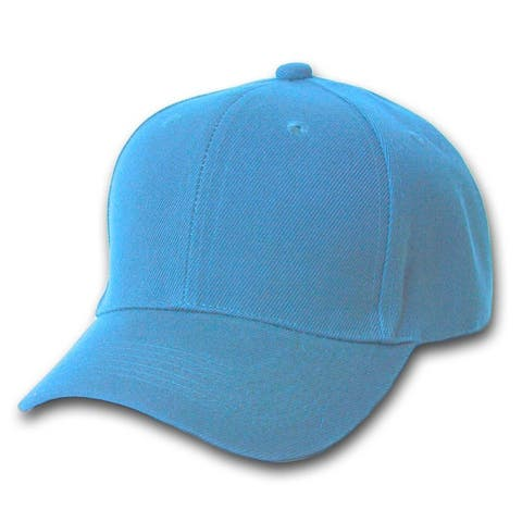 New Sky Blue Plain Blank Baseball Youth Cap Hat