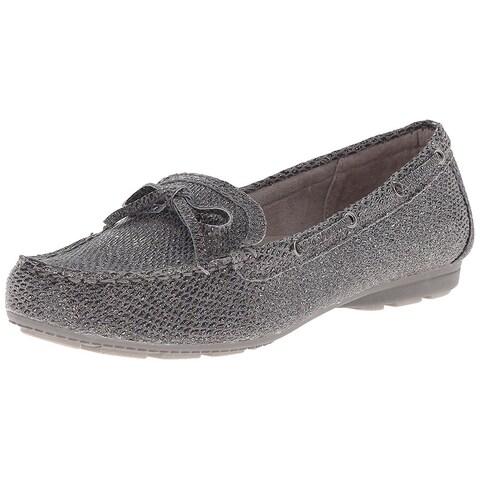 White Mountain Women's Dashboard Slip on Loafer, Grey, Size 6.5