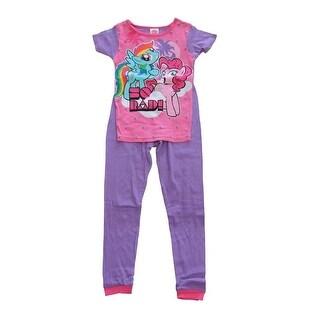 Hasbro Girls Purple My Little Pony So Rad Short Sleeve 2 Pcs Pajama Set