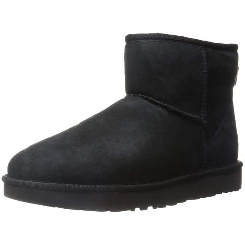 Ugg Womens Classic Mini Li Sheep Skin Closed Toe Ankle Fashion Boots