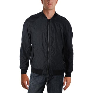 William Rast Mens Bomber Jacket Twill Quilted