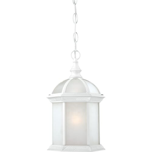 Nuvo Lighting 60/4997 Boxwood ES Single-Light Hanging Lantern with Frosted Glass Panels