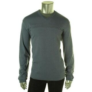 Van Heusen Mens 2-in-1 Heathered Casual Shirt - S