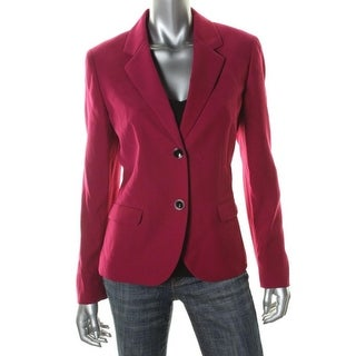 Nine West Womens Long Sleeves Notch Collar Two-Button Suit Jacket - 6