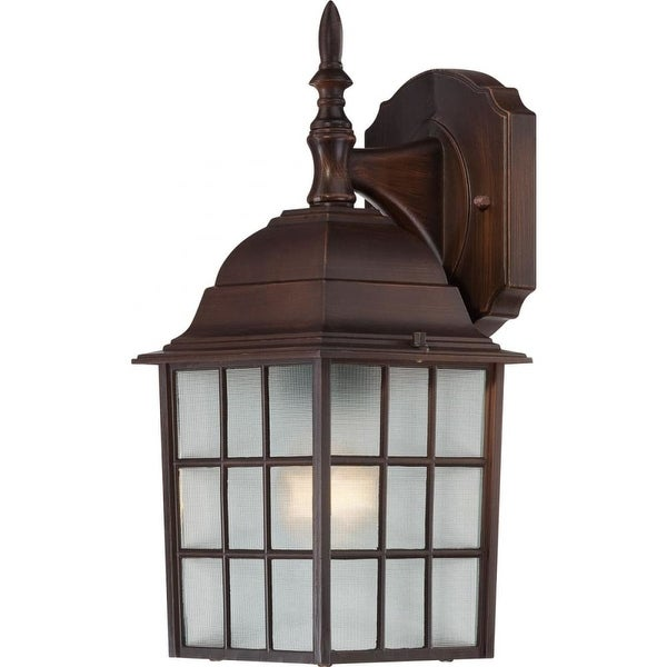 """Nuvo Lighting 60/4905 Adams 1-Light 13-3/4"""" Tall Outdoor Wall Sconce with Patterned Glass Shade - ADA Compliant"""