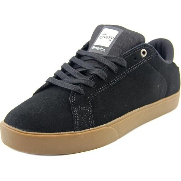 Emerica The Leo NS Men Round Toe Suede Black Skate Shoe
