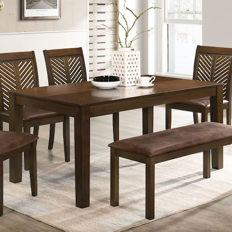 Furniture of America San Gabriel Transitional Walnut 65-in Dining Table