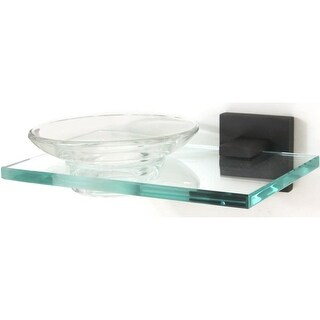Alno A8430 Glass Wall Mounted Soap Dish from the Contemporary II Collection - n/a