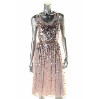 French Connection Womens Party Dress Paillettes Open Back
