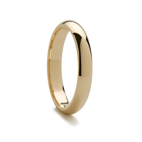 14k Yellow Gold Domed Ring with Polished Finish - 4mm