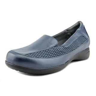 FootSmart Deena WW Round Toe Leather Loafer