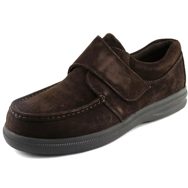 Hush Puppies Gil Men W Moc Toe Suede Brown Loafer