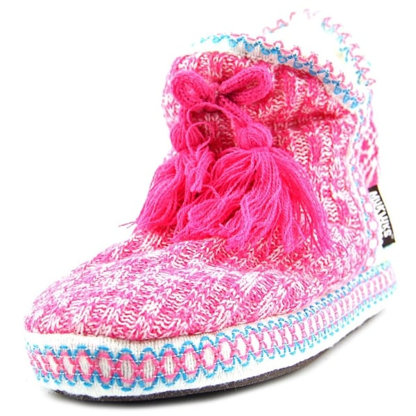 Muk Luks Amira Round Toe Canvas Slipper