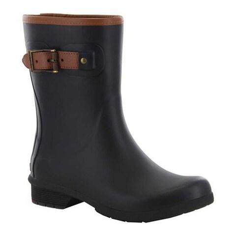 Chooka Women's City Solid Mid Rain Boot Black