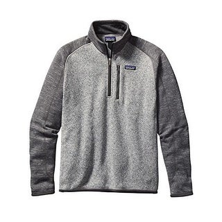 Patagonia Better Sweater Fleece Quarter Zip - Men's Nickel/Forge Grey X-Large