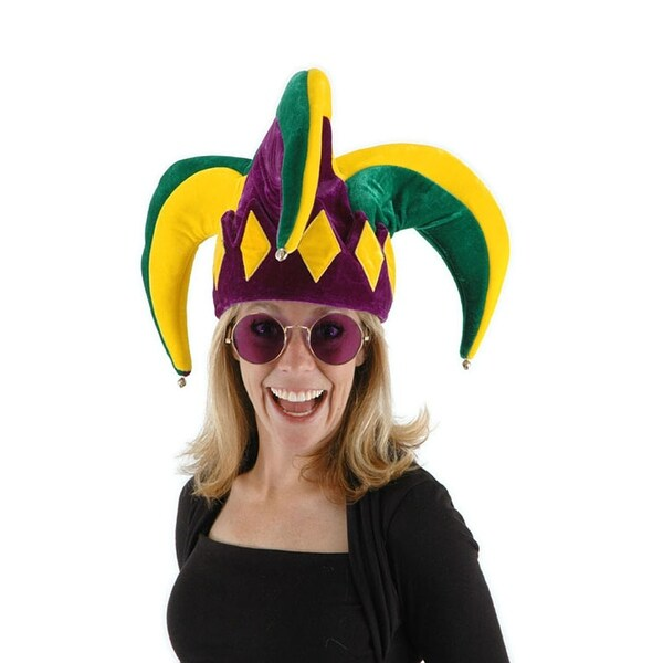 Royal Court Mardi Gras Jester Adult Costume Hat One Size - Yellow