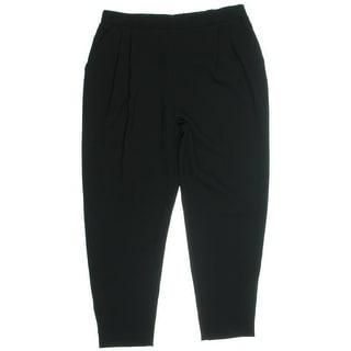 Karen Kane Womens Double-Pleated Pull On Trouser Pants - S