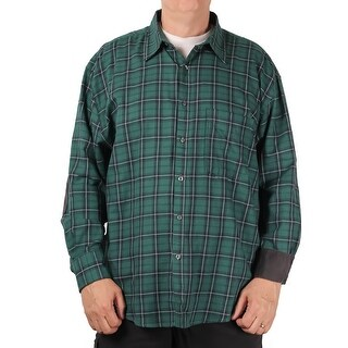 Bruno BIG & Tall Men's Brushed Twill Plaid Shirt (More options available)