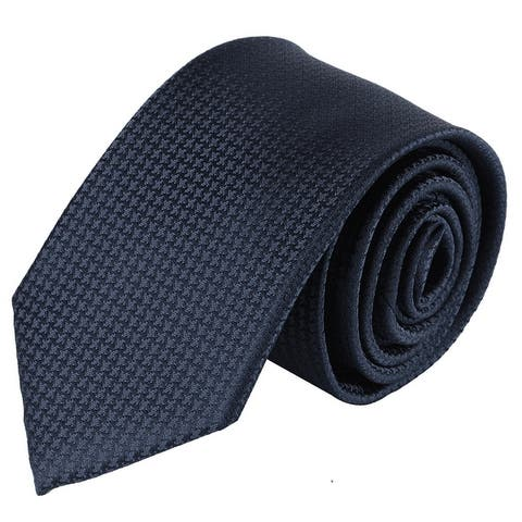 Jacob Alexander Men's Tone on Tone Houndstooth Slim Neck Tie - One Size