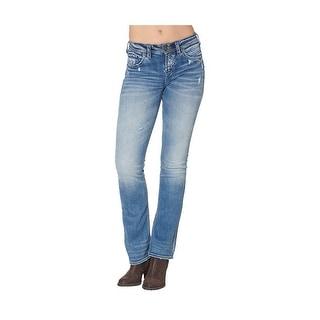 Silver Jeans Denim Womens Suki Bootcut Light Wash L94715SSX238