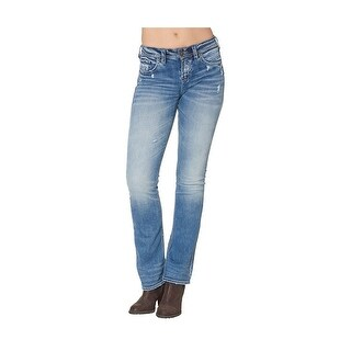 Silver Jeans Denim Womens Suki Bootcut Light Wash L94715SSX238