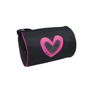 "Danshuz Girls Black Fuchsia Dancer's Heart Rhinestone Duffel Bag 13""x 8.5"" - One size"