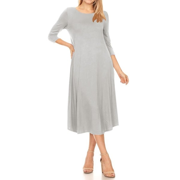 Grey Casual Dresses Online at Overstock