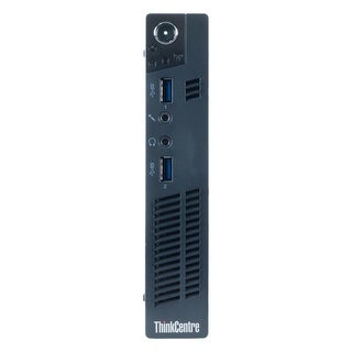 Lenovo ThinkCentre M92P Desktop Tiny Intel Core I5 3470T 2.9G 4GB DDR3 250G Windows 7 Pro 1 Year Warranty (Refurbished) - Black