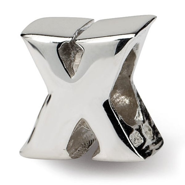 Sterling Silver Reflections Letter X Bead (4mm Diameter Hole)