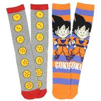 Dragon Ball Z Anime Goku 2 Pack Unisex Crew Socks-One Size Fits Most