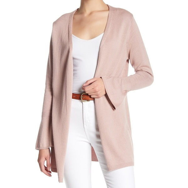 Shop 14th Union Pink Womens Size Medium M Bell Sleeve Cardigan