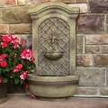 Sunnydaze Rosette Leaf Outdoor Wall Fountain, 31 Inch Tall - Thumbnail 14