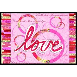 Carolines Treasures PJC1115MAT Love Is A Circle Valentines Day Indoor & Outdoor Mat 18 x 27 in.