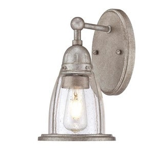 """Westinghouse 6351000 North Shore Single Light 6"""" Wide Bathroom Sconce with Hand - weathered steel"""
