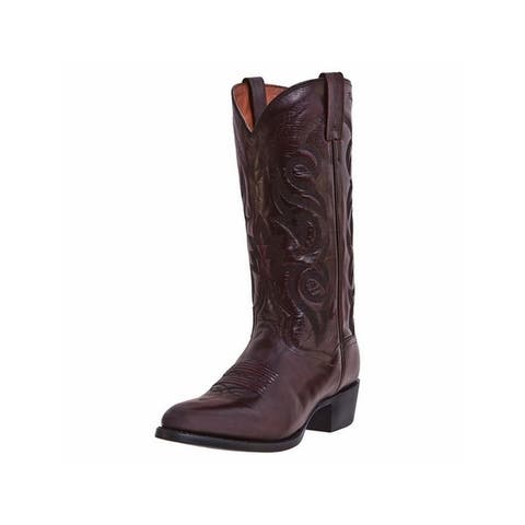 Dan Post Western Boots Mens Milwaukee Leather Round Toe Black