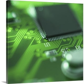 """Close up of computer circuit board"" Canvas Wall Art"