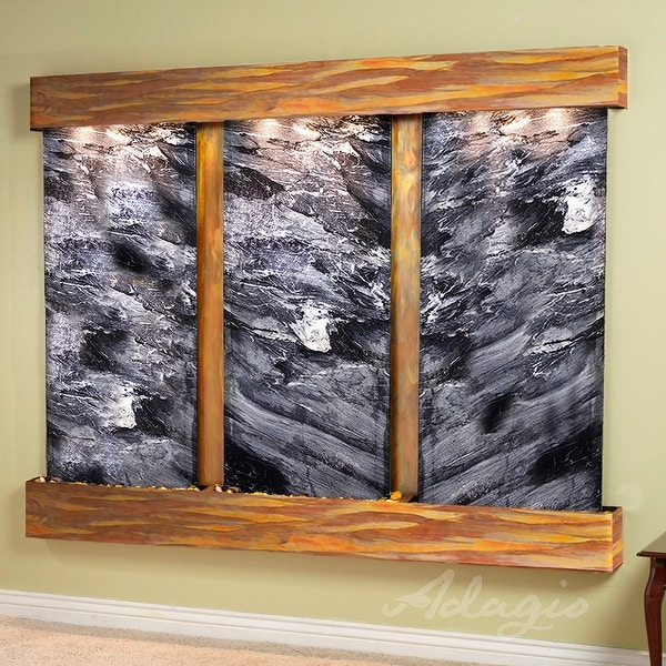 Deep Creek Falls Fountain - Rustic Copper - Squared Edges - Choose Options