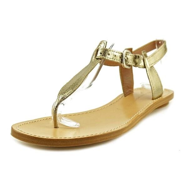 Sigerson Morrison SMI340 Women Open Toe Synthetic Gold Thong Sandal