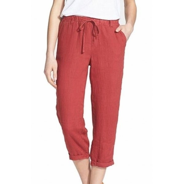 Shop Caslon New Red Women S Size Large L Drawstring Cuffed