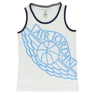 Jordan Boys AJ Wings Tank Top White - White/Blue