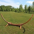 Sunnydaze Wooden Curved Arc Hammock Stand - Thumbnail 11