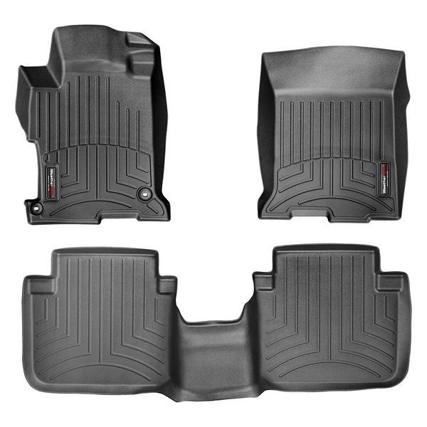 WeatherTech 44481-1-2  Black Front & Rear FloorLiner: Honda Accord 2013 + Sedan