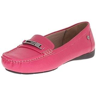 LifeStride Womens Viva Faux Leather Moc Toe Loafers - 5.5 medium (b,m)