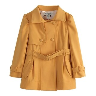 Richie House Girls' casual coat with all over cat printed lining