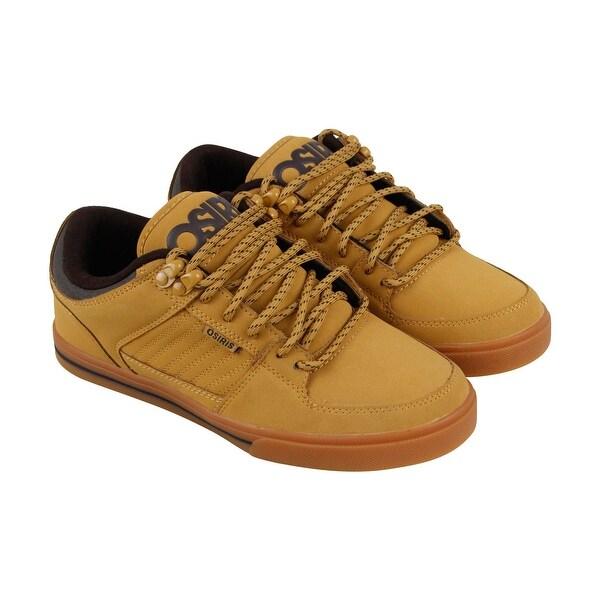 5c3c11d17ce Shop Osiris Protocol Mens Tan Leather Sneakers Lace Up Skate Shoes ...