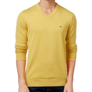 Tommy Hilfiger NEW Yellow Mens Size 3XL Big & Tall V-Neck Sweater