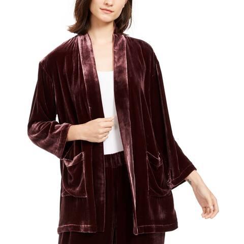 Eileen Fisher Women's Sweater Purple Size XS Open Velvet Cardigan