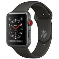 Apple Watch Series 3 Smartwatch (GPS & Cellular) - 42mm Gray Aluminum Case with Space Gray Sport Band (Certified Refurbished)