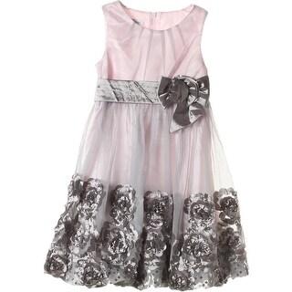 Bonnie Jean Girls Semi-Formal Dress Mesh Sequined - 5